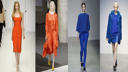At a Glance: Vivid Oranges and Blues @ London Fashion Week A/W14