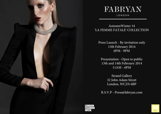 FABRYAN new collection @ LFW