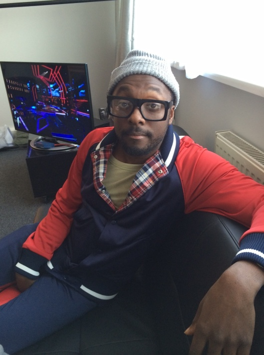 Will.i.am wearing Black Eyewear