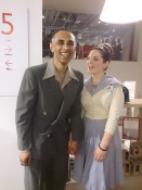 Mahmud Kabir and Ceri Poppins